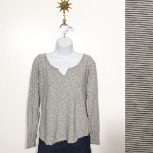 Lucky Brand Blue and White long sleeve top